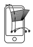 Shoping móvel ilustração do vetor