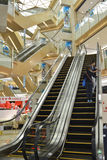 Shoping mall. Escalators in modern shoping mall Royalty Free Stock Images