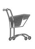 Shoping mobile Photographie stock libre de droits