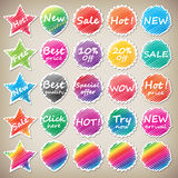 Shoping stickers Royalty Free Stock Photography
