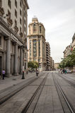 Shoping street of zaragoza Stock Photography