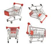 Shoping vagnar Arkivbilder