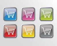 Shoping Wagentasten Lizenzfreies Stockfoto