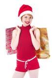 Shoping Weihnachten Lizenzfreie Stockbilder