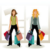ShopingGirls Stock Photo