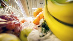 Daily shopings in a a hypermarket stock footage