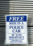Shoplifters Beware Royalty Free Stock Images