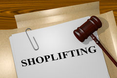 Shoplifting legal concept Stock Photo