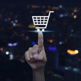 Shopp online-begrepp Arkivfoton