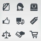 Shoppa 1 symbolsuppsättning Royaltyfria Bilder