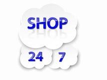 Shoppa 24h 7 Arkivfoto