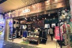 Shoppa Adlib i Hong Kong Arkivbild