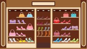 Shoppa av skor Fotografering för Bildbyråer