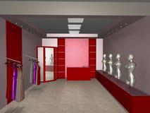 Shoppa boutique Arkivbilder
