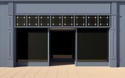 Shoppa den främre facaden Royaltyfri Fotografi