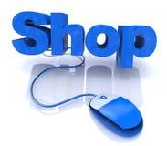 Shoppa direktanslutet vektor illustrationer