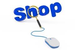 Shoppa direktanslutet begreppet Arkivfoto