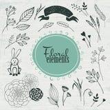 Shoppa etiketter och symboler Handgjort blom-