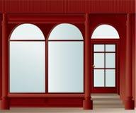 Shoppa fönstret stock illustrationer
