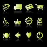 shoppa för 02 symboler Royaltyfria Bilder