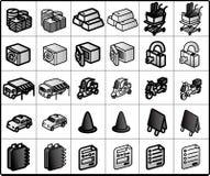 shoppa för 02 symboler Fotografering för Bildbyråer
