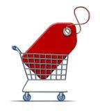 shoppa för besparingar royaltyfri illustrationer