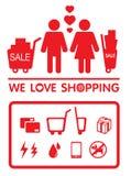 Shoppa för förälskelse Royaltyfri Foto