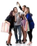 shoppa för flickor fotografering för bildbyråer