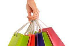 shoppa för händer Arkivfoton