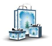 shoppa för jul royaltyfri illustrationer