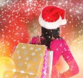 Shoppa för jul. Royaltyfri Bild