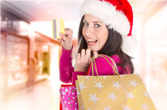 Shoppa för jul. Arkivbilder