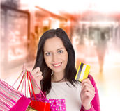 Shoppa för jul. Royaltyfria Foton