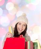 Shoppa för jul. Royaltyfri Foto