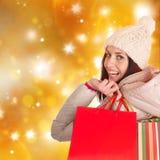 Shoppa för jul. Fotografering för Bildbyråer