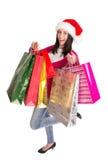 Shoppa för jul. Arkivbild