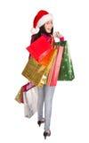 Shoppa för jul. Arkivfoton