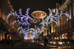 Shoppa för London jul Royaltyfri Foto