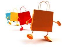 shoppa för påsar Arkivfoto