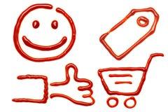 shoppa för symboler Royaltyfri Fotografi
