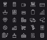 shoppa för symboler Arkivbilder
