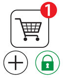 shoppa för symboler Royaltyfri Bild