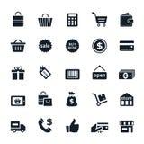 shoppa för symboler Arkivbild