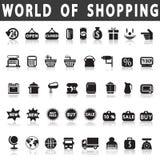 shoppa för symboler Fotografering för Bildbyråer