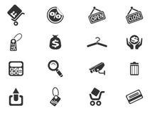 shoppa för symboler Arkivfoton