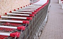 shoppa för vagnar Arkivbild