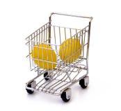 shoppa för vagnscitroner Arkivfoto