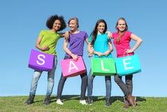 shoppa för försäljningar Royaltyfri Fotografi