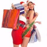 shoppa för jul Arkivbilder