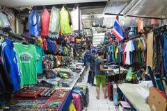 Shoppa i Bangkok, Thailand Arkivbild